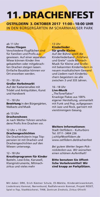 Postkarte Drachenfest 2017 Rückseite